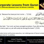 Lessons from ‪‎Quran‬: Difference Between Attitude of Losers & Winners: